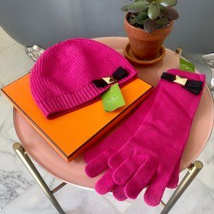 Kate Spade Pink Hat and Glove Set